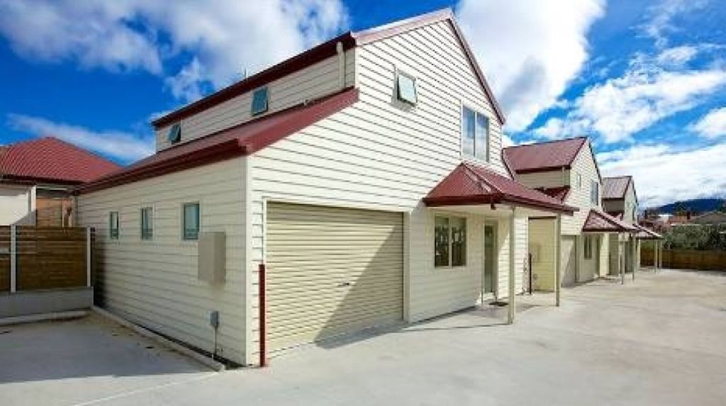 Mr Hunt purchased a newly built townhouse in Hobart for $310,000 less than three years ago. Photo: Supplied.