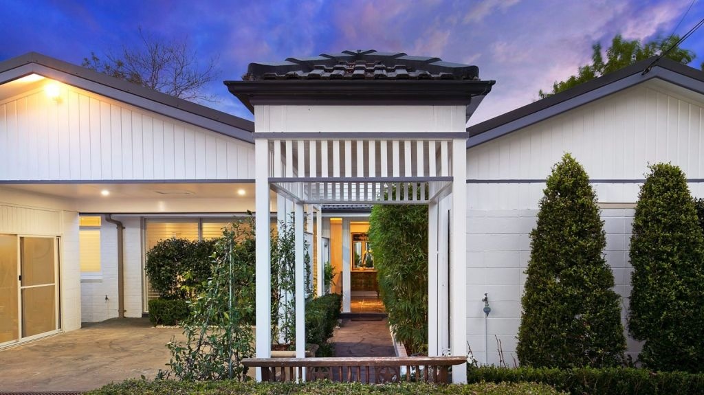 Brunner believes the entrance to a home is also key. Image: 80 Douglas Street, St Ives. Photo: Mitch Cameron Photography