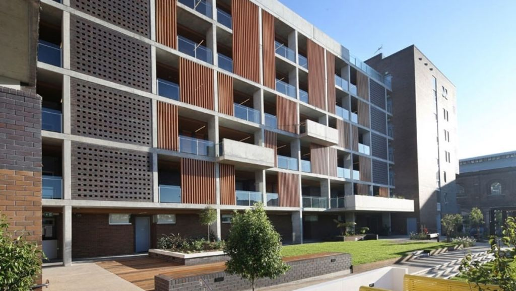 Clover Moore would like the City of Sydney to be able to extend a levy on developers, which funds affordable housing, like The Platform Apartments at Eveleigh. Photo: City West Housing.