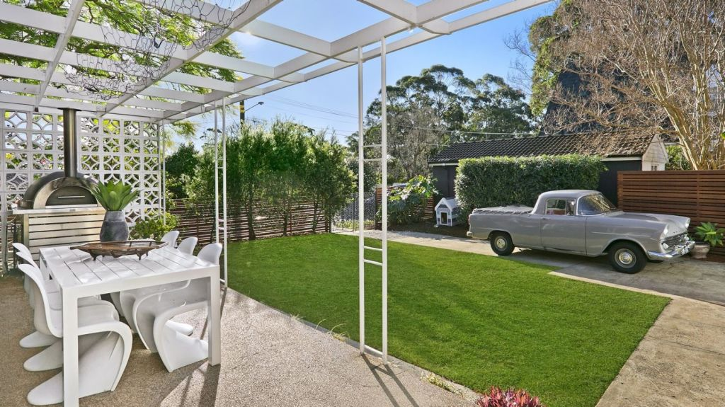 The home is situated in a quiet Lane Cove street.