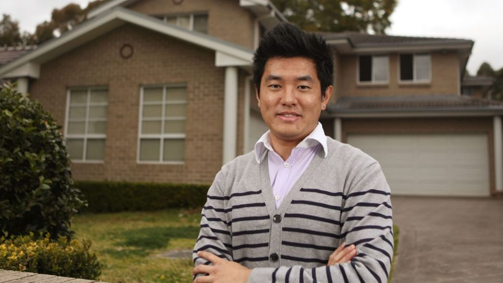 David Chen rents with three friends in Eastwood but owns two investment properties. He is 27. Photo: Daniel Munoz