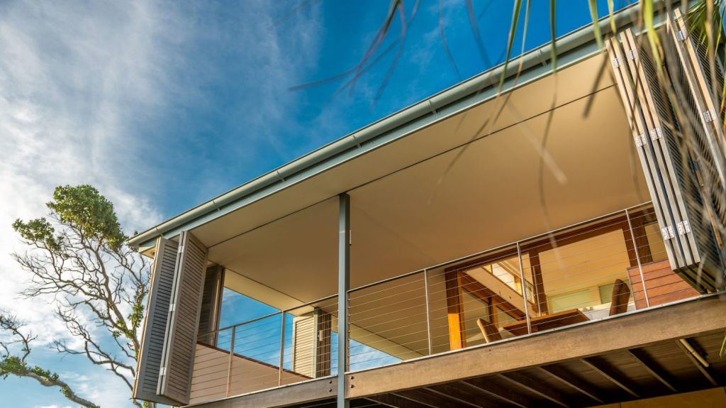The home at 6A Childe Street, Byron Bay, has 180-degree ocean and waterway views. Photo: Supplied