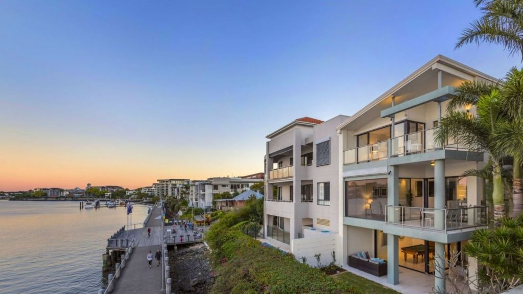 77 Macquarie Street, Teneriffe, will go to auction this Saturday, September 2. Photo: Ray White New Farm
