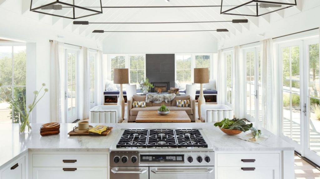 It's ideal if a kitchen has a view of the outdoor area, and has good interaction with other spaces. Photo: Trinette Reed Photography