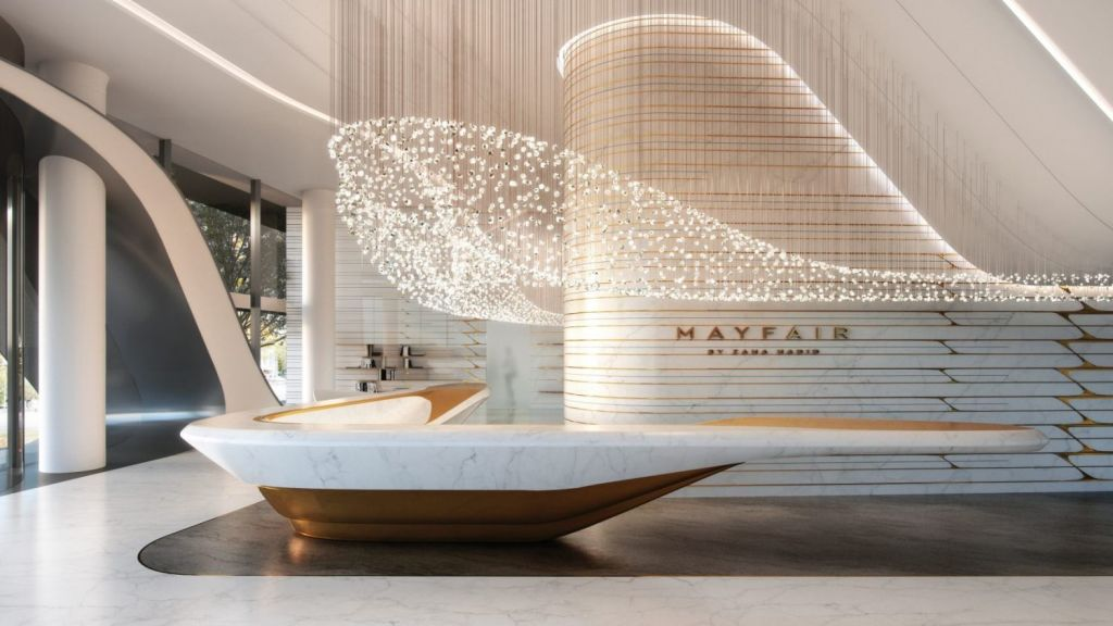 Zaha Hadid Architects has teamed up with Australia's Elenberg Fraser to bring the Mayfair to life. Photo: UEM Sunrise