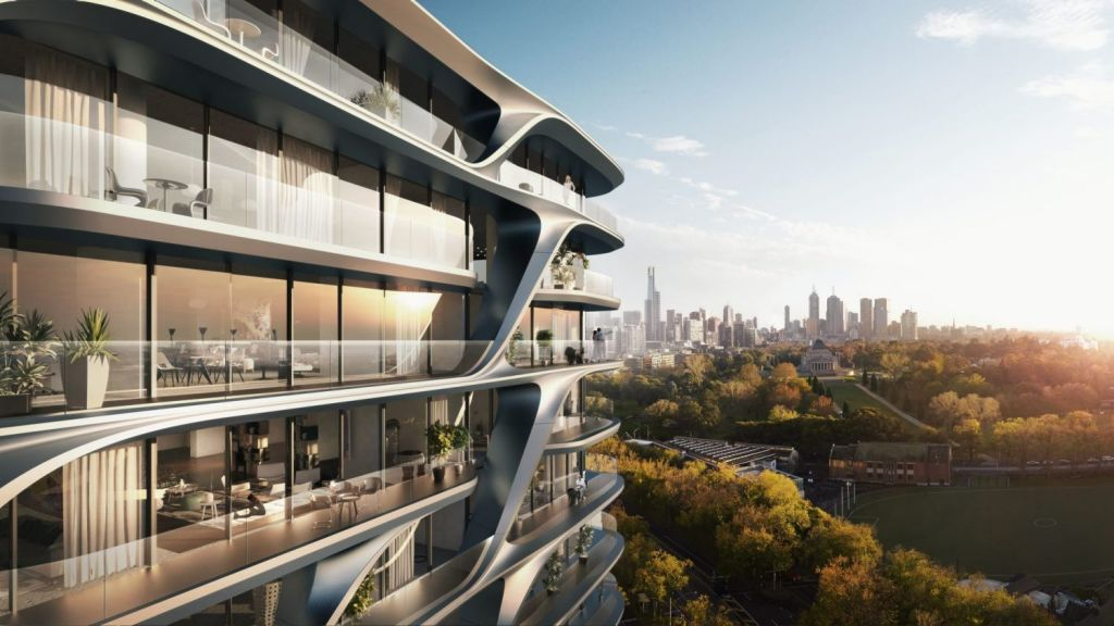 Mayfair will grace the site of the former Victoria Police headquarters on St Kilda Road. Photo: UEM Sunrise