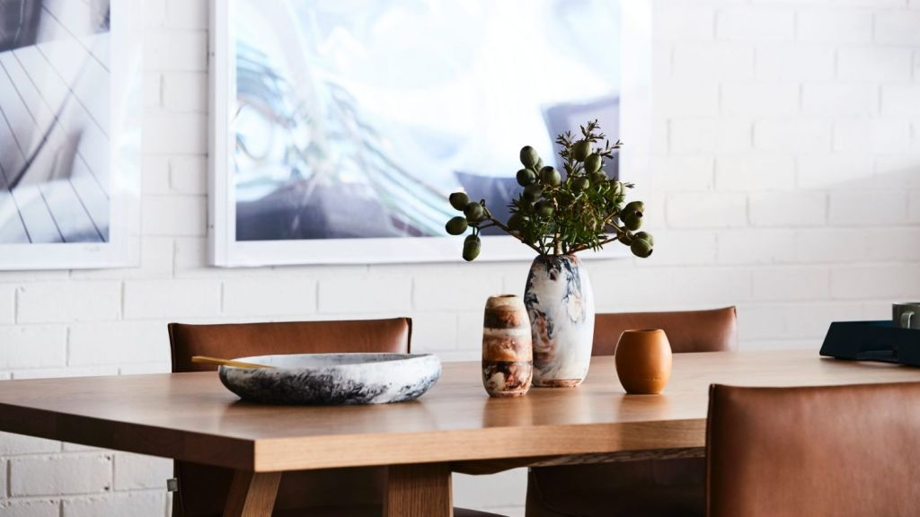 The pieces are handcrafted at Jardan's workshop in Melbourne. Jardan Melbourne store. Photo: Supplied