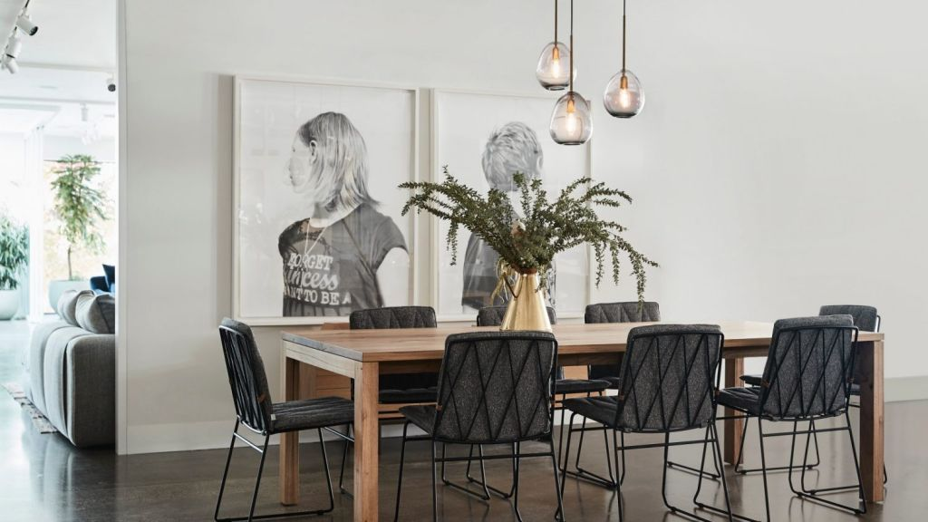 Jardan's modernist-inspired furniture designs have a strong emphasis on natural materials such as wood, leather and wool. Jardan Melbourne store. Photo: Supplied