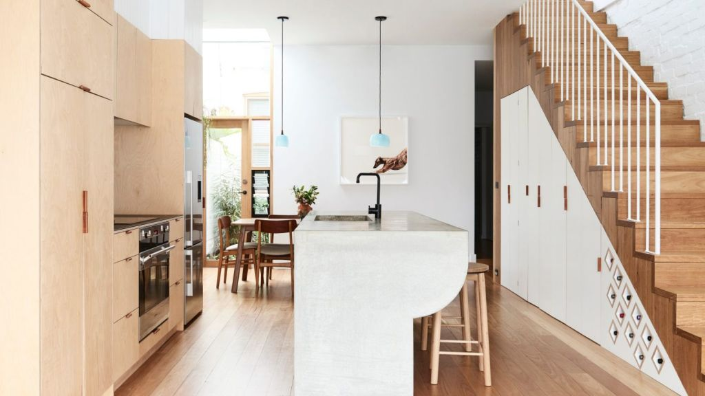 The bright and airy kitchen and dining area of High House. Photo: Eve Wilson