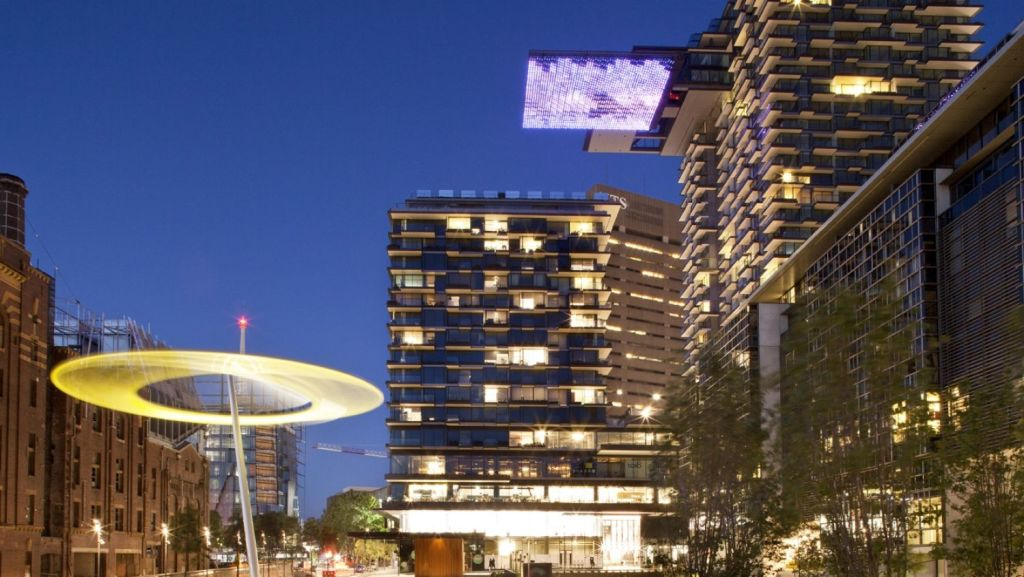 A grand statement: Sekisui House's One Central Park built in partnership with Fraser Property Group. Photo: Simon Wood
