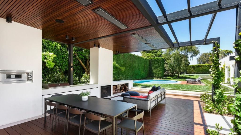 The sleek alfresco entertaining area was added in December 2016. Photo: Supplied