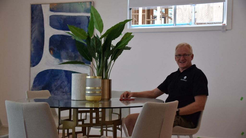 James Lilley of Lilleybuild is overseeing the completion of 8 Croydon Road. Photo: Jim Malo