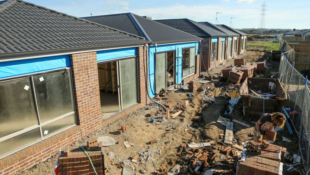 New housing developments are being built in outer Geelong suburbs like Armstrong Creek. Photo: Pat Scala