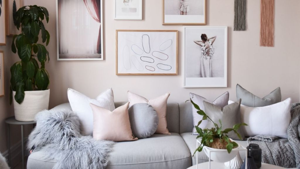 Also known as Scandi Pink, rose quartz and Tumblr pink, the colour of the moment is a soft, muted shade of pink with the blue notes taken out. Photo: Norsu Interiors
