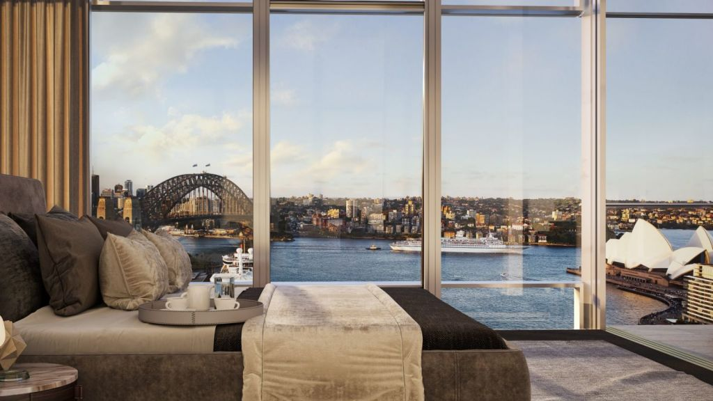Premier Sydney Harbour views will be a huge draw-card for high-end buyers. Photo: Artist's impression