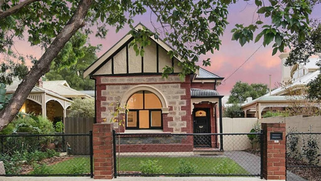 This sandstone property at St Peters in Adelaide, has bricks for sale for $75 each. Photo: AGIM