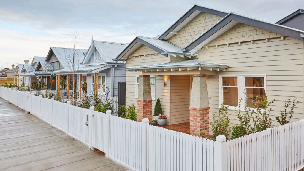 The Block 2017: The finished houses at 46 Regent Street, Elsternwick Photo: Channel Nine