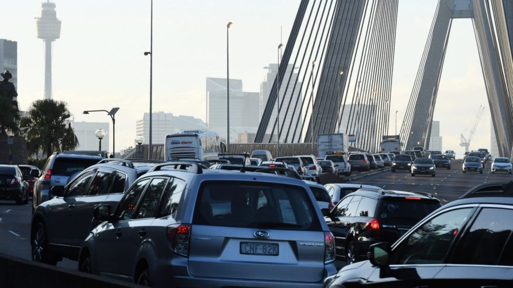Sydney ranked 80th for traffic flow. Photo: Peter Rae