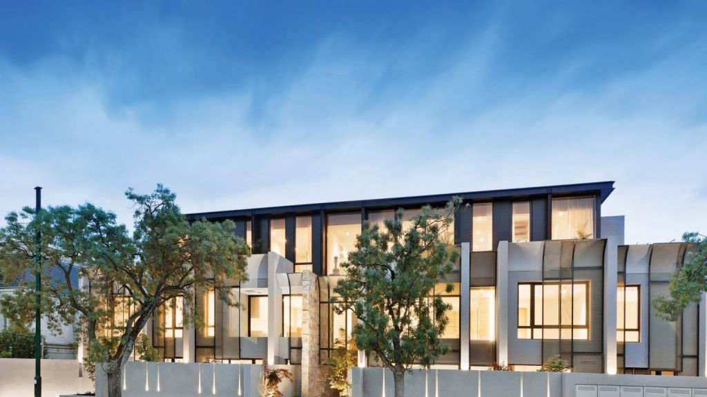 The penthouse at 29 Washington Street, Toorak is destined to be an iconic Melbourne address. Photo: Marshall White