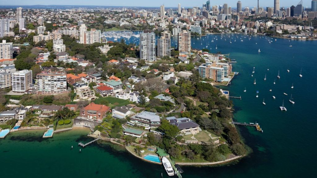 Waterfront blocks in Darling Point are some of the pricest in the country.