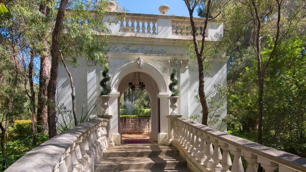 La Foret Enchantee's grand entrance. Photo: Peter Hughes