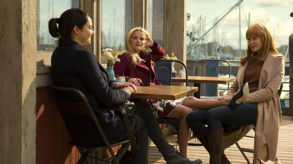 Shailene Woodley (left), Reese Witherspoon and Nicole Kidman star in the hit show <i>Big Little Lies</I>.
