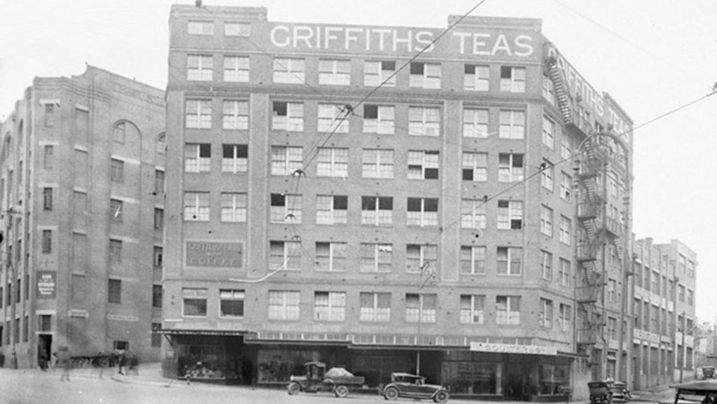 Historical photos of the Griffiths Tea Building. Photo: Supplied