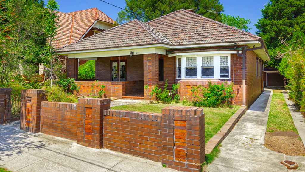 12 Minna Street, Burwood, billed as suitable for renovation or a knockdown, sold for $3.75 million.