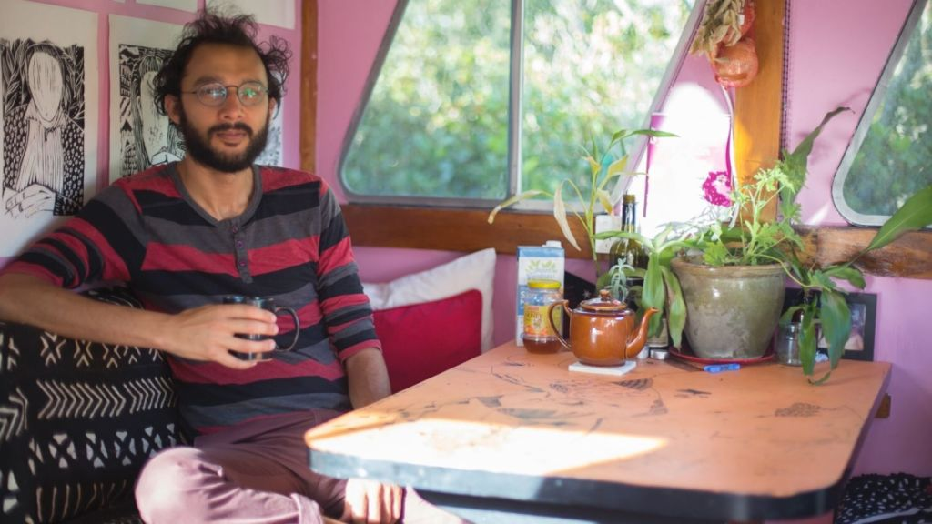 Jonathan Sri has moved into an houseboat, so he can continue to donate half his salary. Photo: Tammy Law