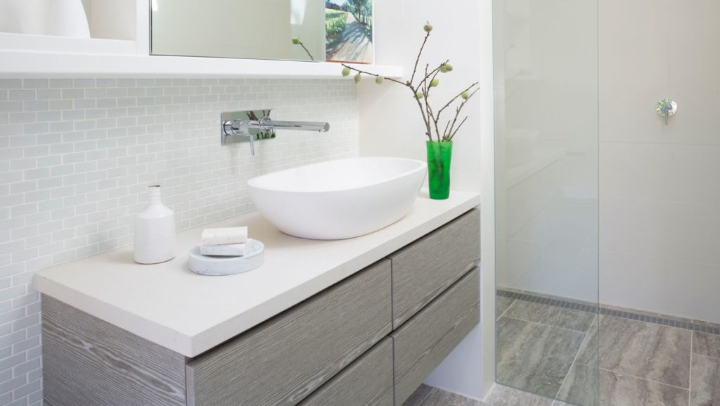 The first step to freshening up your bathroom is to clean and declutter. Photo: Studio Gorman