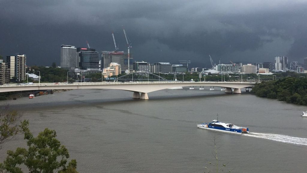Brisbane is expected to have a stormy summer, as per usual. Photo: Laura Dymock/7 News Brisbane