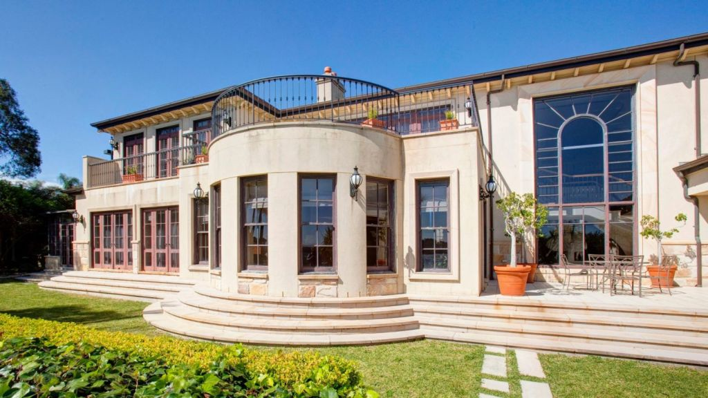 The six-bedroom residence in Vaucluse is on 81 metres of deep waterfront. Photo: Supplied