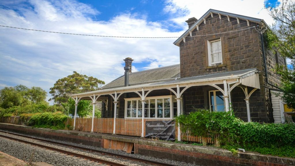 The trains no longer stop at Bannockburn's old station, now a cafe. Photo: Reg Ryan
