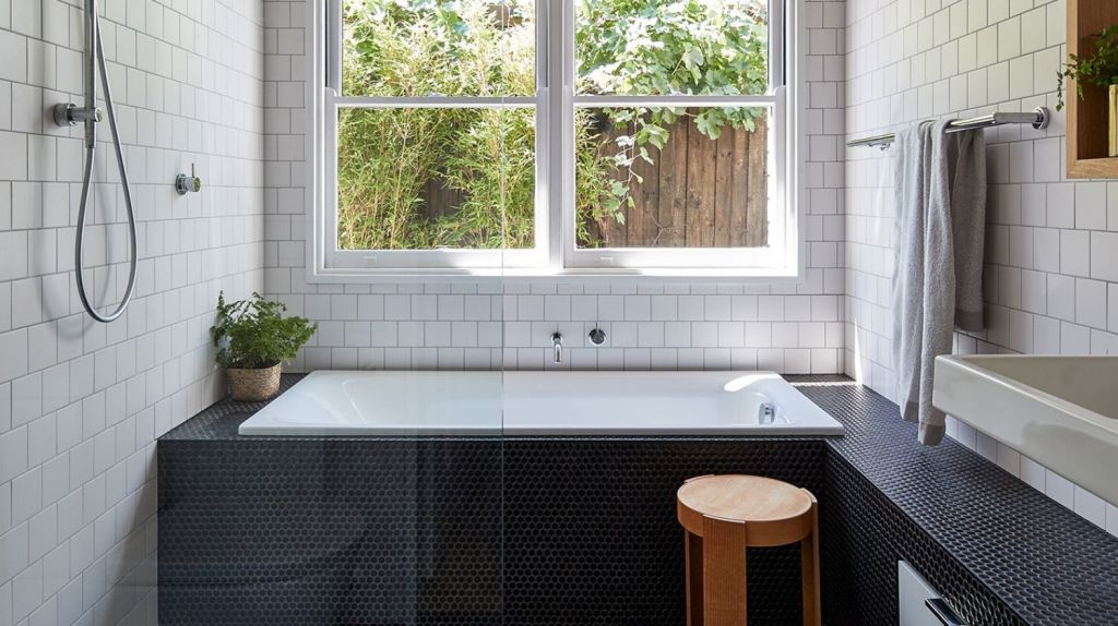 A raw materials and finishes palette added a textural dimension to the home. Photo: Peter Bennetts