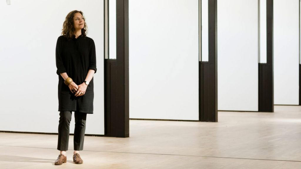 Renowned Melbourne architect Kerstin Thompson, photographed at VCA's The Stables, Southbank (Not yet officially opened). Photo: Greg Briggs