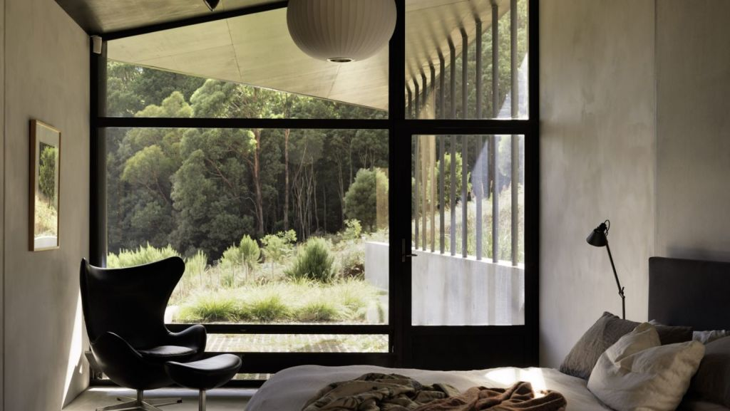 Inside the House at Hanging Rock designed by Kerstin Thompson Architects Photo: Trevor Mein