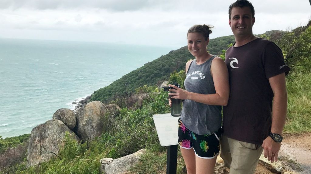 Tim and Jen Moloney love their idyllic life on Fitzroy Island.