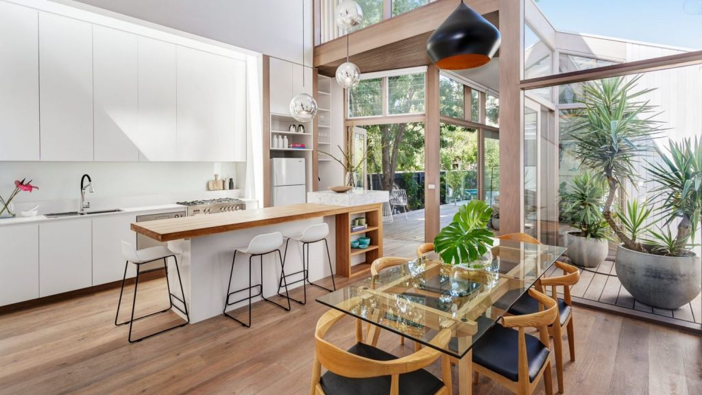 Designed by Po-Co Architecture, this inner-city pad coaxes in loads of natural light. Photo: Jellis Craig