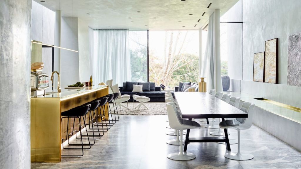 Rob Mills' Armadale home won the Best Residential Interior gong at the The World Architecture Awards, handed out in London in February. Photo: Mark Roper