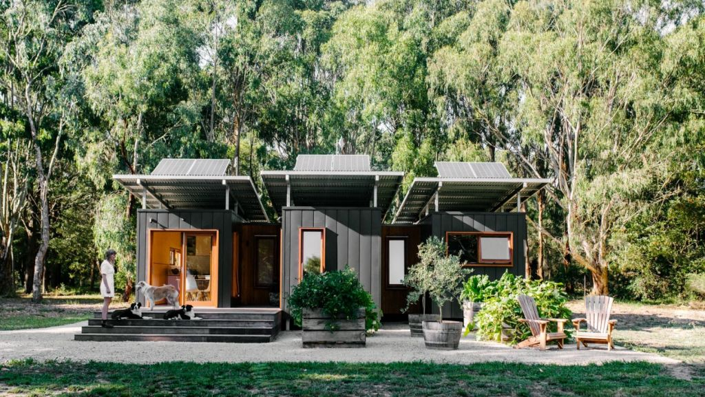 Meet the Australian couple who built a 50-square metre converted shipping container home.
