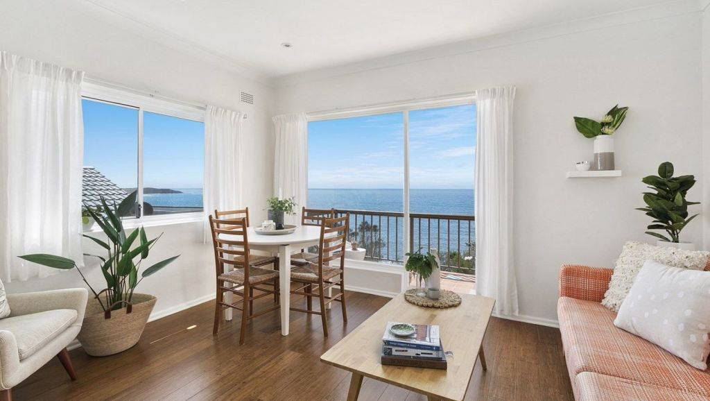 At a Saturday afternoon auction in Dee Why, a small two-bedroom unit with water views sold for $1,105,000.