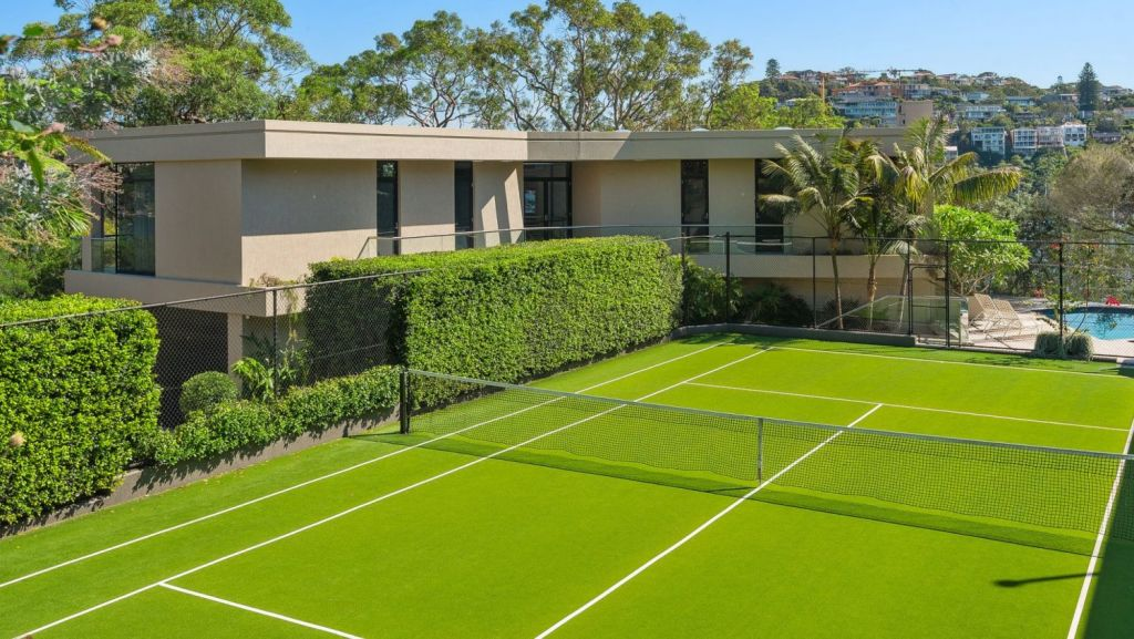 The Blewitt's is one of the few waterfront reserve homes in Beauty Point to also have a tennis court. Photo: Supplied