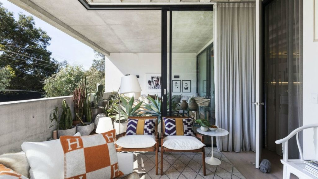 The master bedroom opens out onto the outdoor living space. Photo: Supplied.