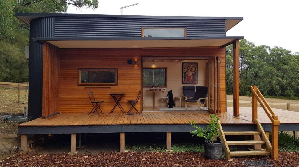 A tiny house that will be on display at Melbourne Knowledge Week. Photo: Tiny Footprint