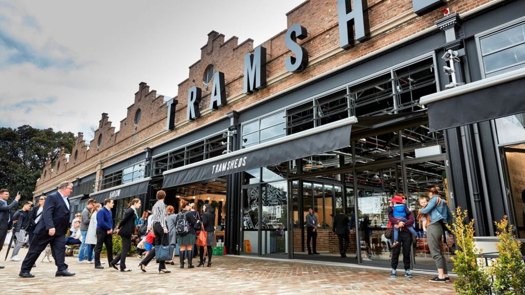 The Ross Street development is the final piece of the puzzle for Harold Park, the $1.1 billion urban renewal project, which saw the Tramshed transformed into a popular dining spot.