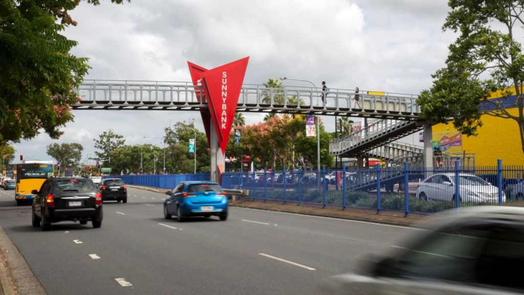 Outside Sunnybank Plaza and Market Square, McCullough Street, Sunnybank. Photo: Tammy Law