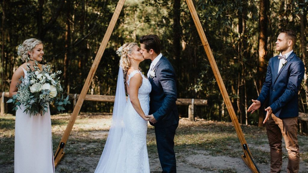 Dani and Chris McClenahan bucked the trend by buying a house before the wedding. Photo: Bulb Creative