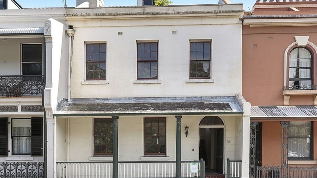 The facade of the building when it was listed for sale as part of the Millers Point public housing sell-off.