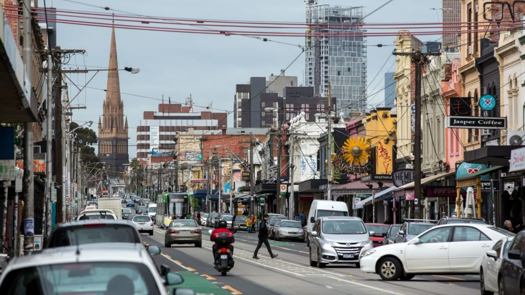 Fitzroy scored 10 out of 10 for walkability in the Domain Healthy Melbourne study. Photo: Stefan Postles