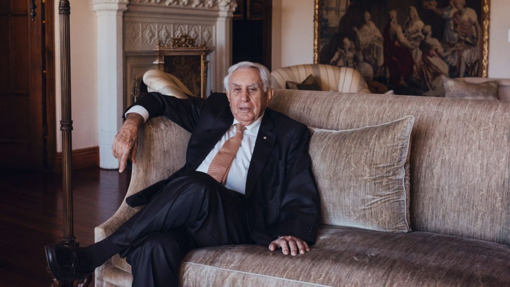 Meriton founder and Australia's second richest person Harry Triguboff at his home in Vaucluse. Photo: James Brickwood